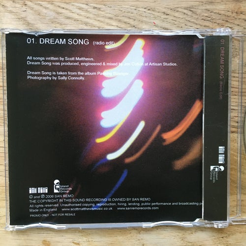 Image of Dream Song - Rare signed promo single 2006