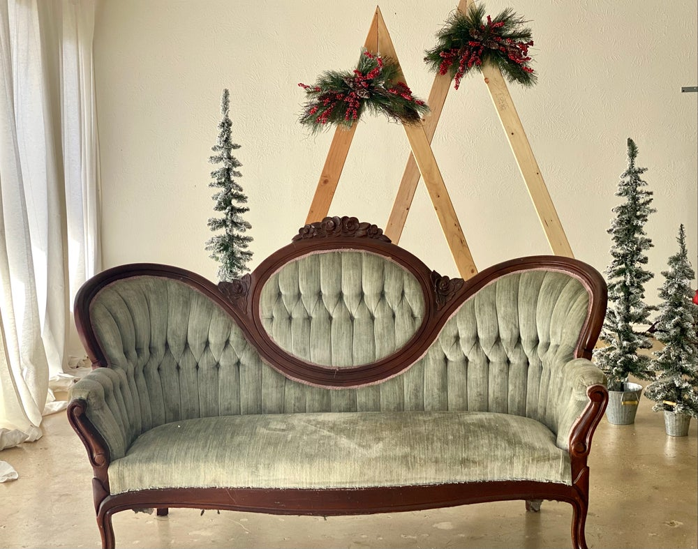 Image of Indoor Christmas couch deposit