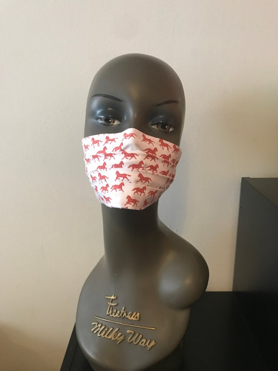 Image of TR pony print face mask