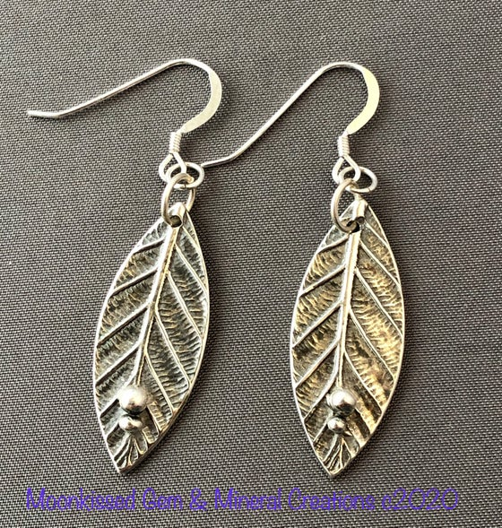 Image of A New Leaf Fine Silver Earrings