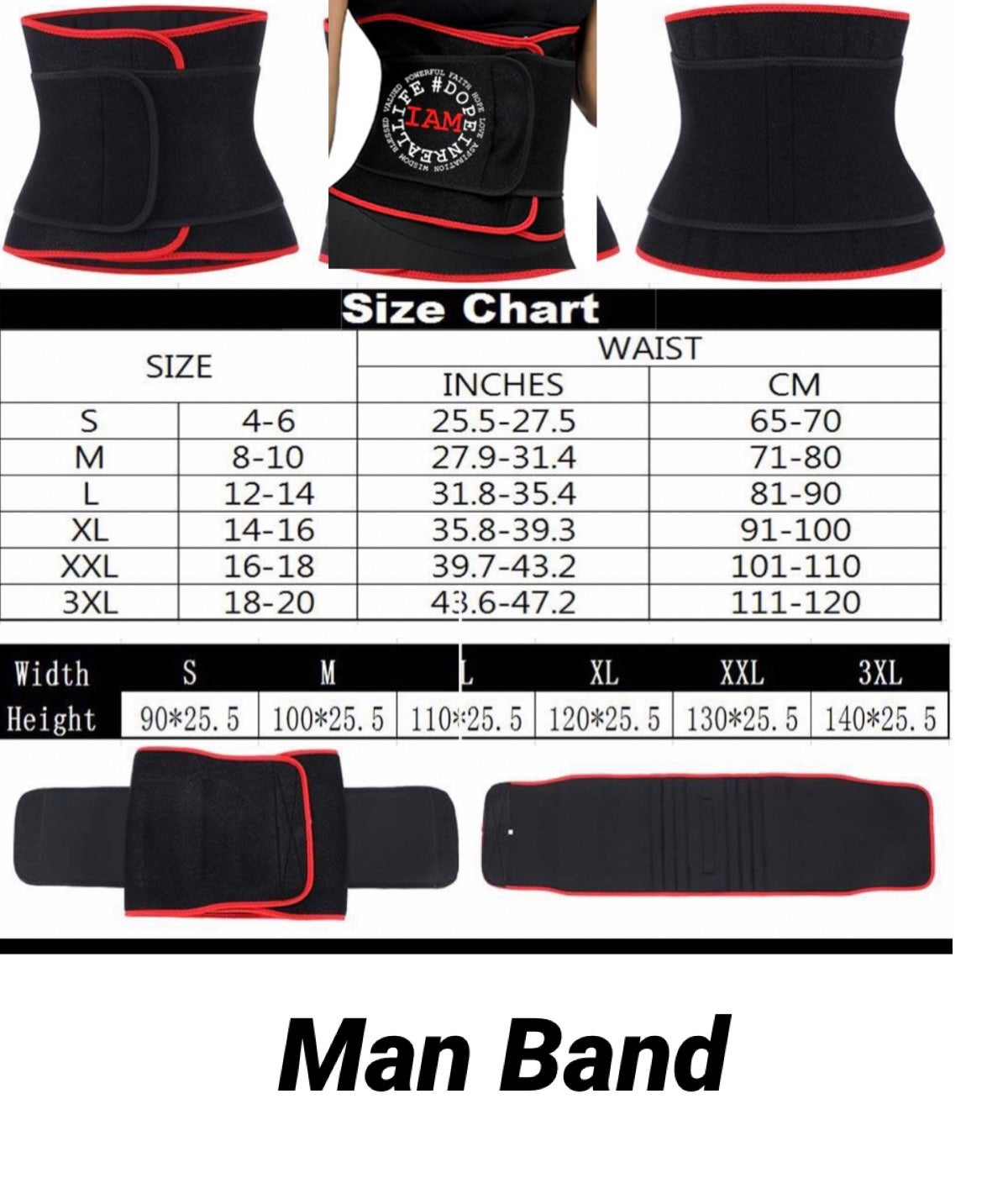 Image of DIRL Sweatbands and Waist Trainers