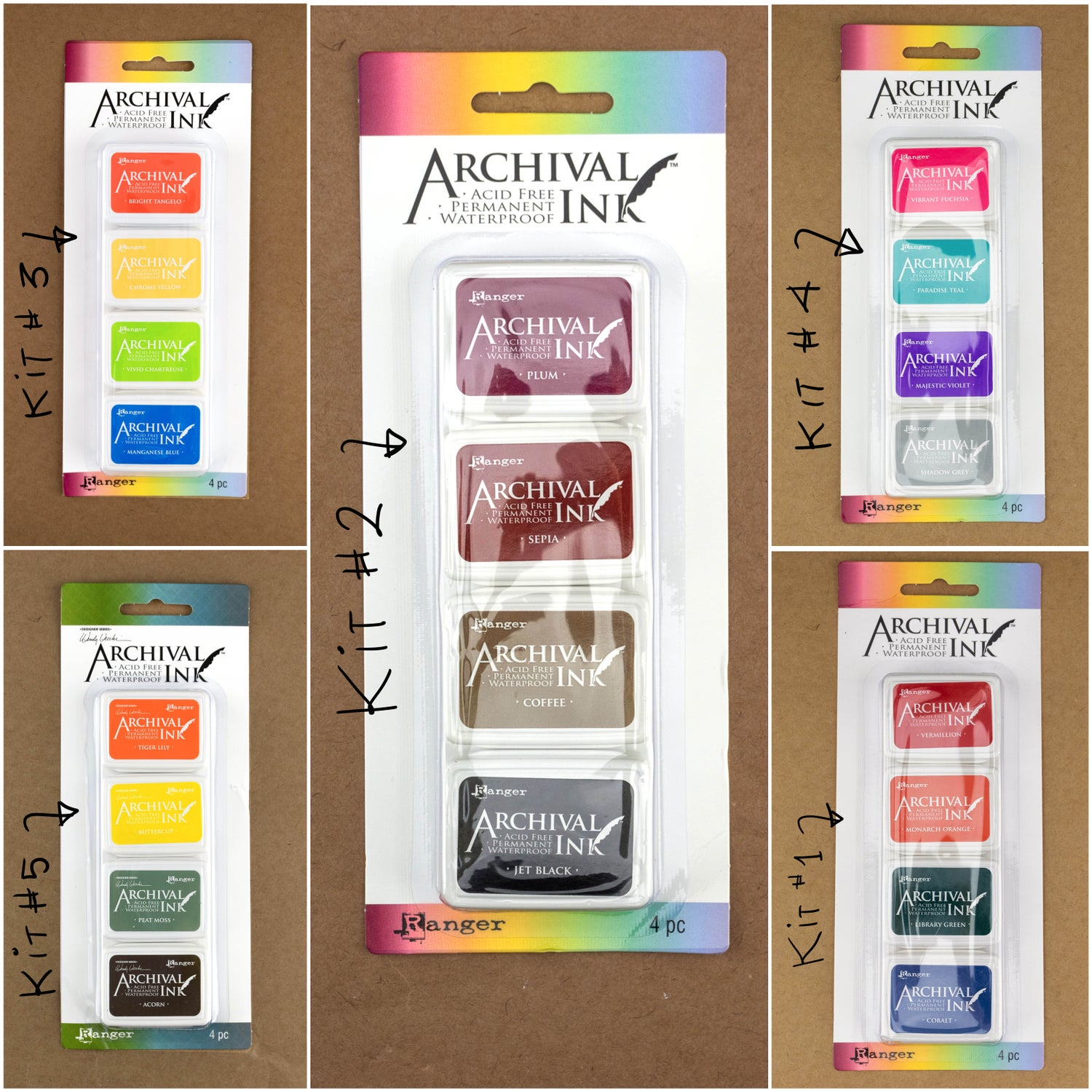 Ranger Mini Archival Ink Kits (Set of 4)