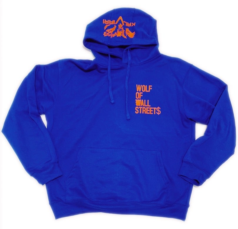 Image of KALVIARI WOLF OF ALL STREETS PULLOVER HOODIE  (SHEA EDITION)