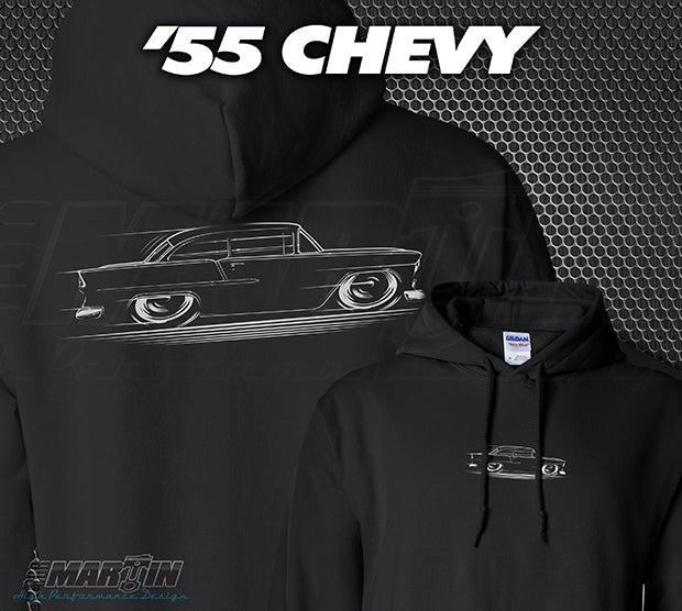 Image of '55 Chevy T-Shirts Hoodies Banners