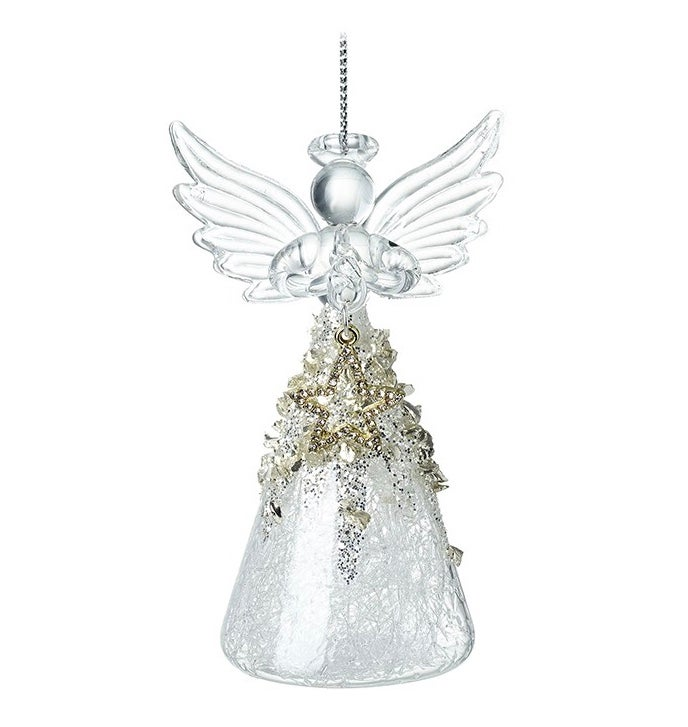 Image of Glass Angel With Gold Star