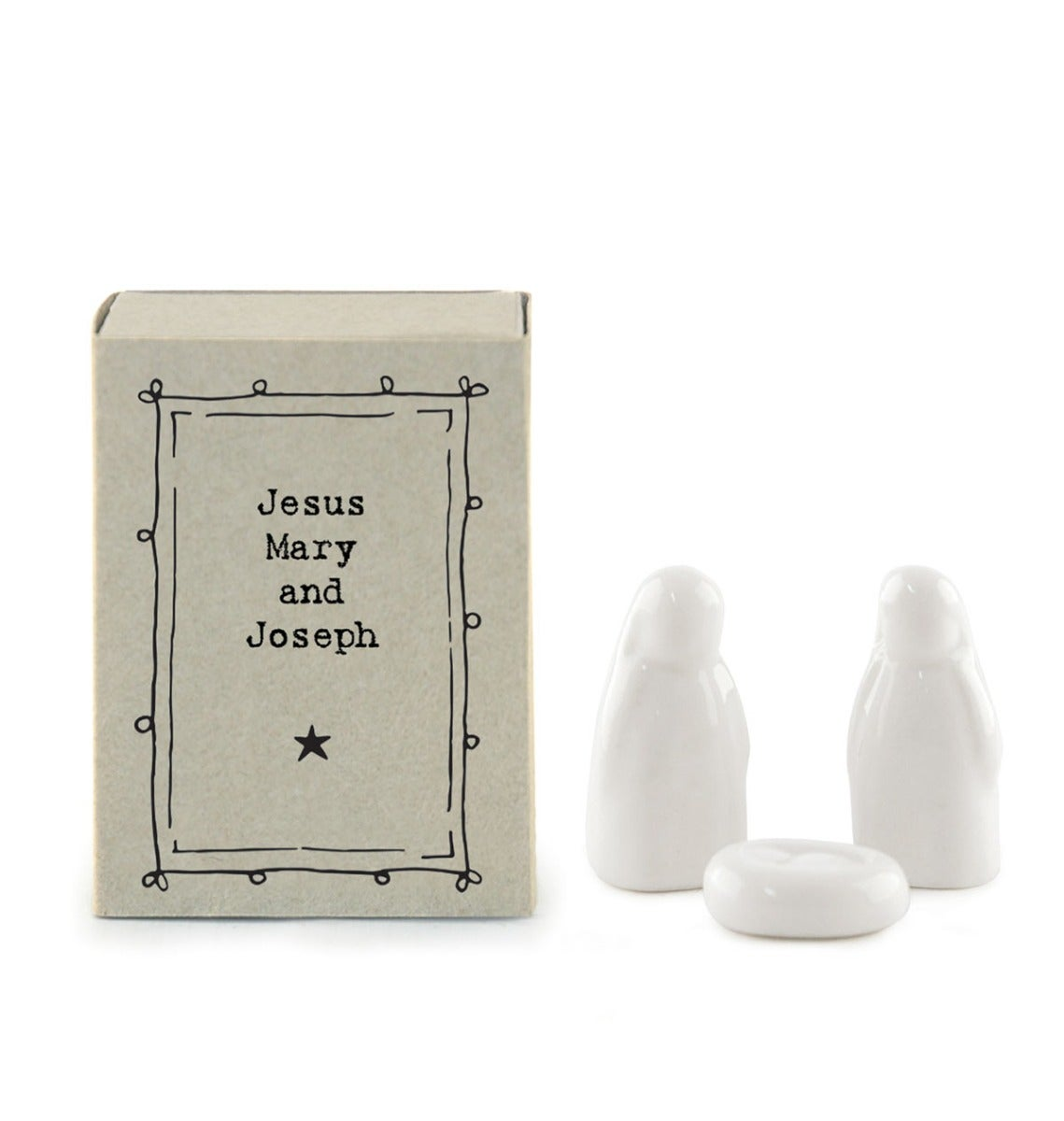Image of East of India Matchbox - Jesus, Mary & Joseph