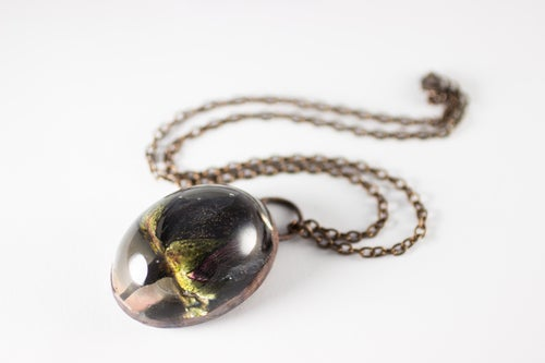 Image of Special Halloween Black Rose Copper Necklace #11