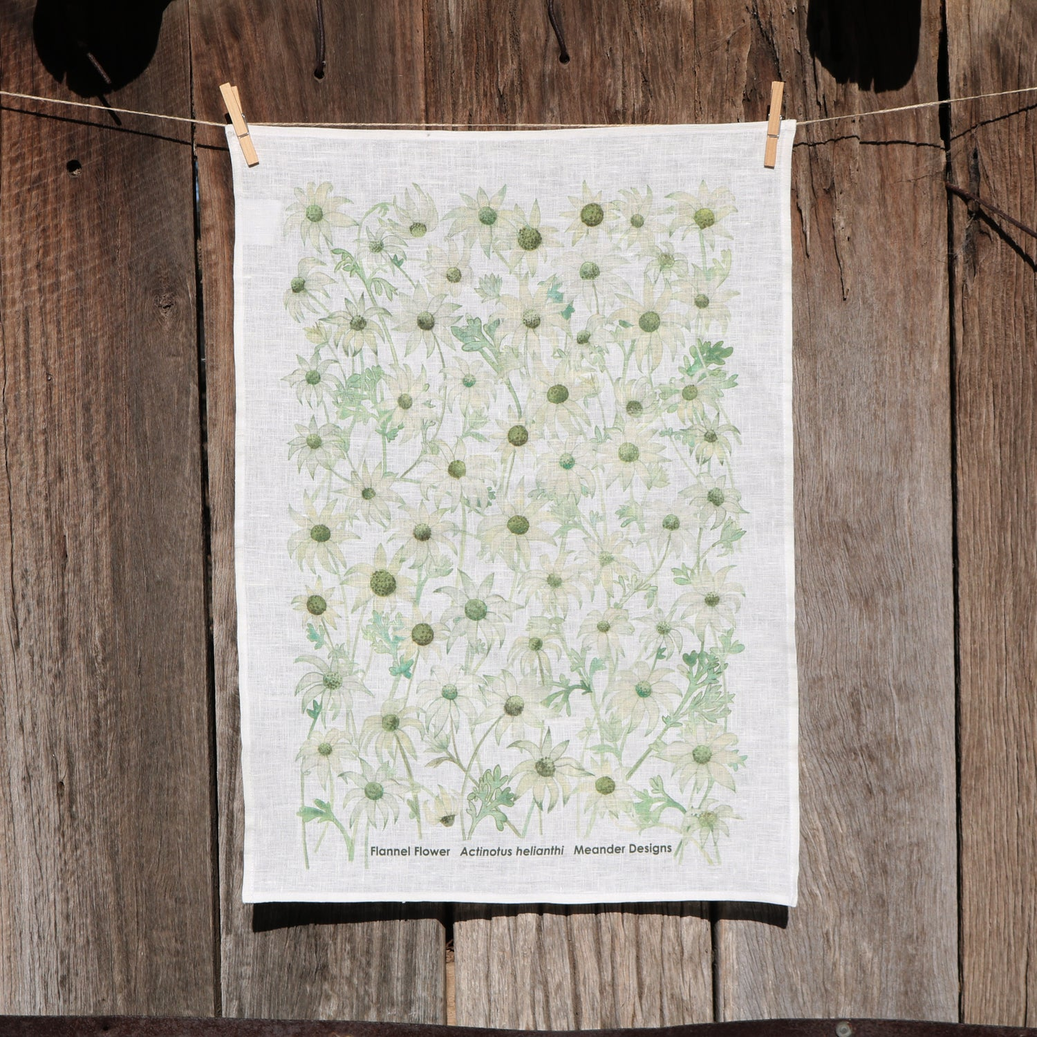 Image of *Preorder* 25% off RRP $35.00 Flannel Flowers 100% Linen Tea Towel