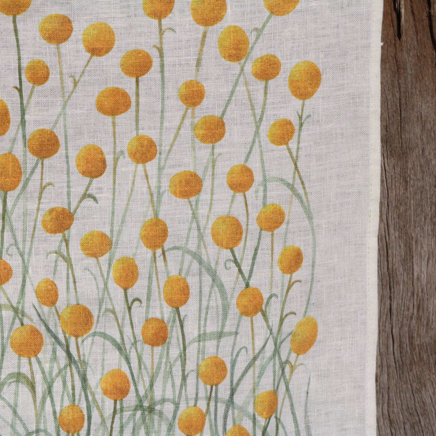 Image of *Preorder* 25% off RRP $35.00 Billy Buttons 100% Linen Tea Towel