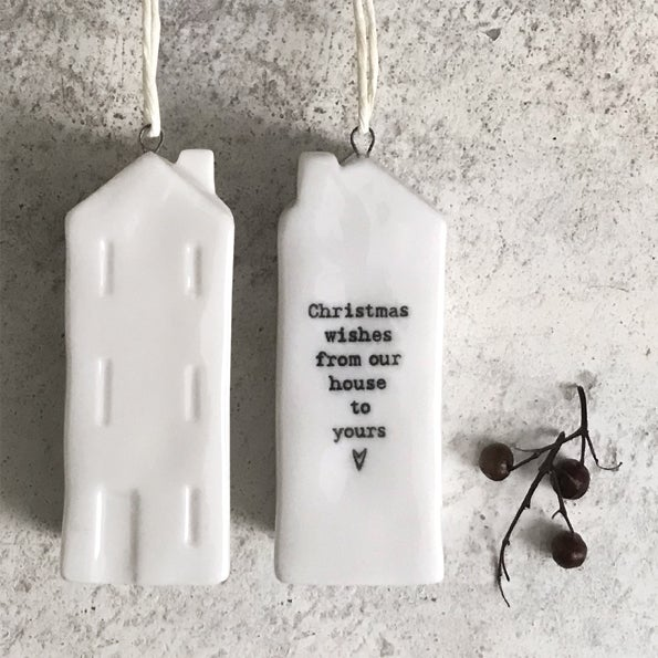 Image of East of India Porcelain House - Christmas Wishes