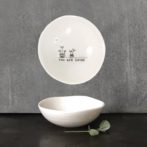 Image of East of India Small wobbly bowl - You are loved