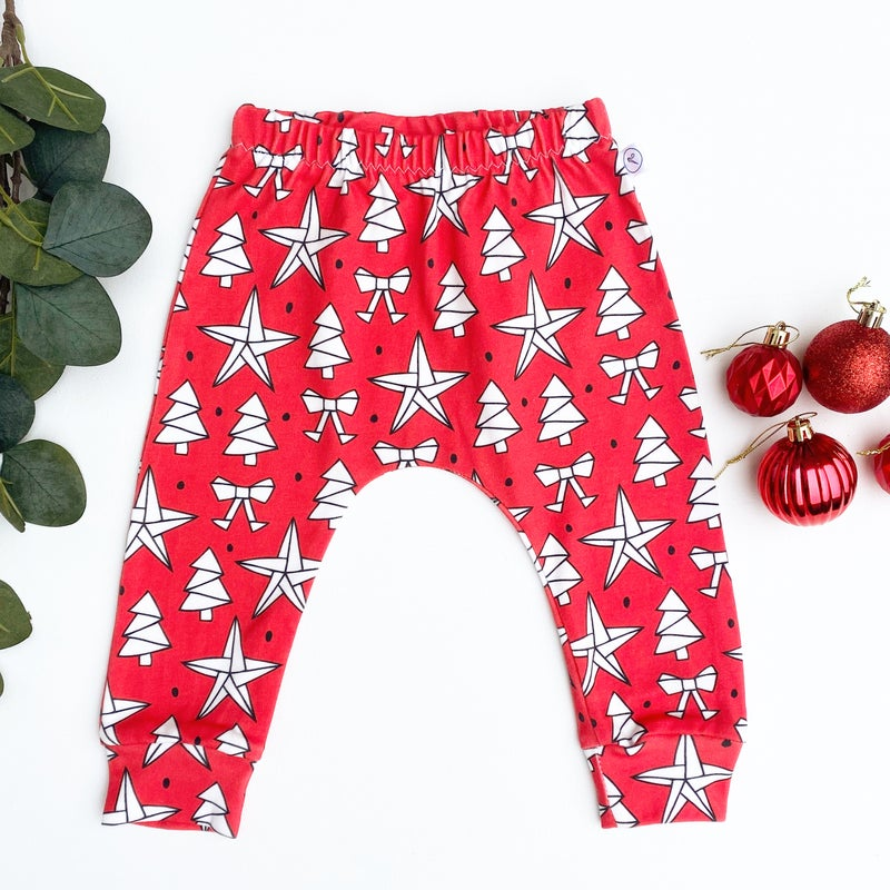 Image of Red Christmas Leggings