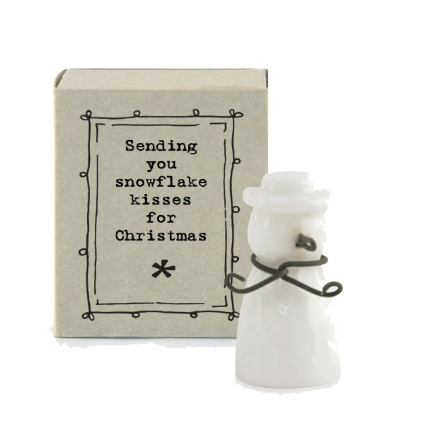 Image of East of India Matchbox - Snowflake Kisses