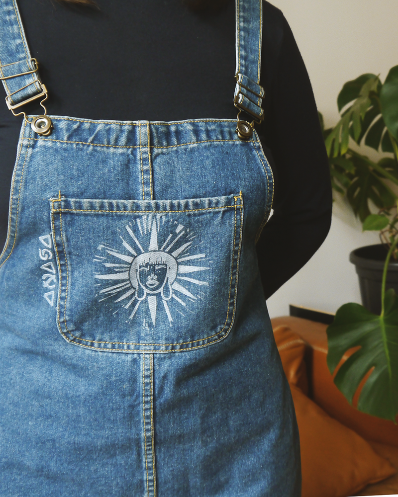 "Image of ""LIGHT & WISDOM"" - JEANS DRESS"