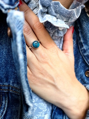 Image of Bague azurite - taille 53,5 - ref. 5972