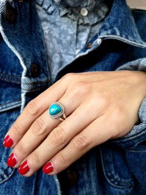 Image of Bague azurite ref. 7053 - taille 53, 5