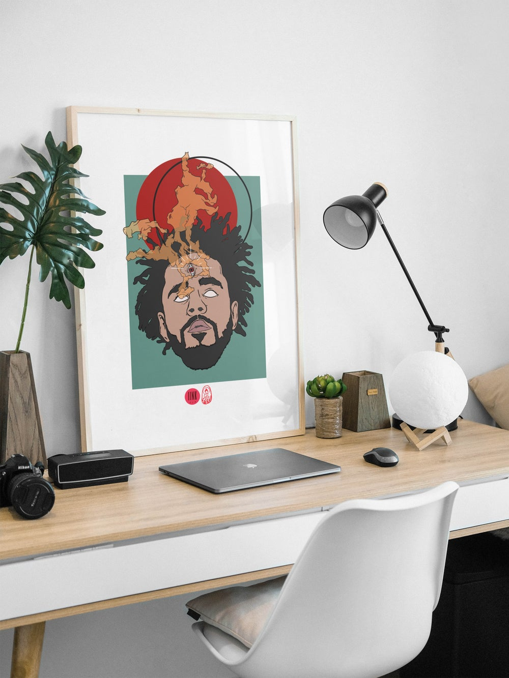 J Cole Print