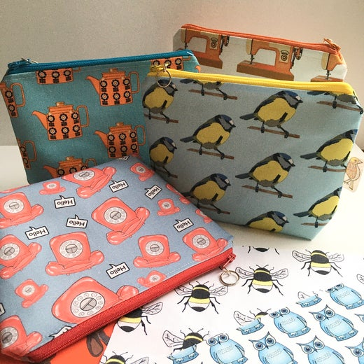 Bird Modern Vintage -Make up Bag