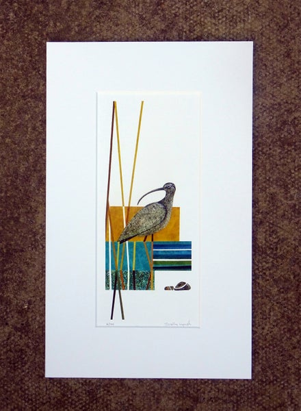Image of Abstract Curlew limited edition print