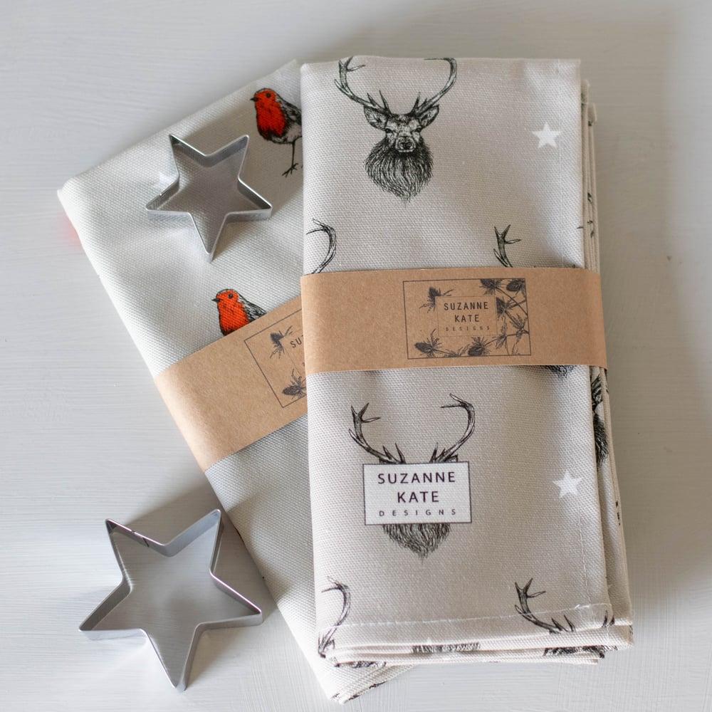 Image of Stag tea towel
