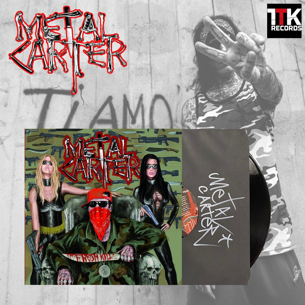 "Image of Metal Carter ""Fresh Kill"" Signed Black LP - 1 LEFT"