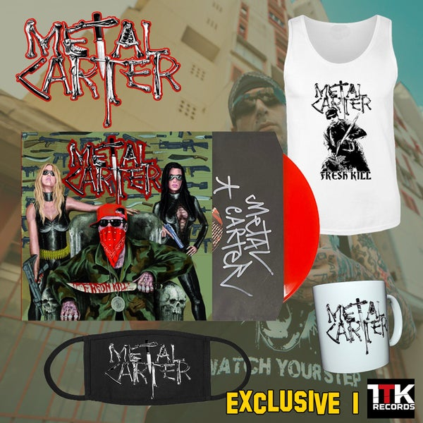 """Image of Metal Carter """"Fresh Kill"""" Signed - LP red ultramlimited edition EXCLUSIVE PACK1 - 1 LEFT"""