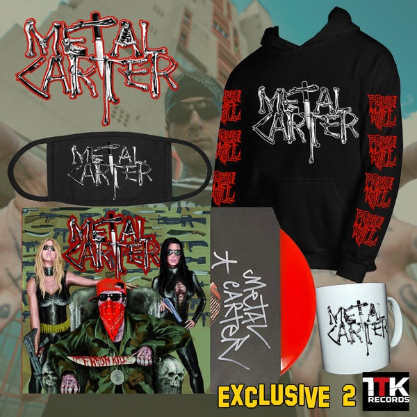 "Image of Metal Carter ""Fresh Kill"" Signed - LP red ultramlimited edition EXCLUSIVE PACK 2 -1 LEFT"