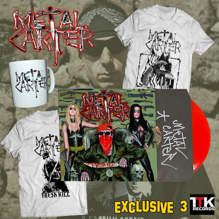 """Image of Metal Carter """"Fresh Kill"""" Signed - LP red ultramlimited edition EXCLUSIVE PACK 3 - 1 LEFT"""