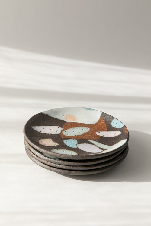 Image of Dark Brown Pastel - Dessert Dish 6.5""