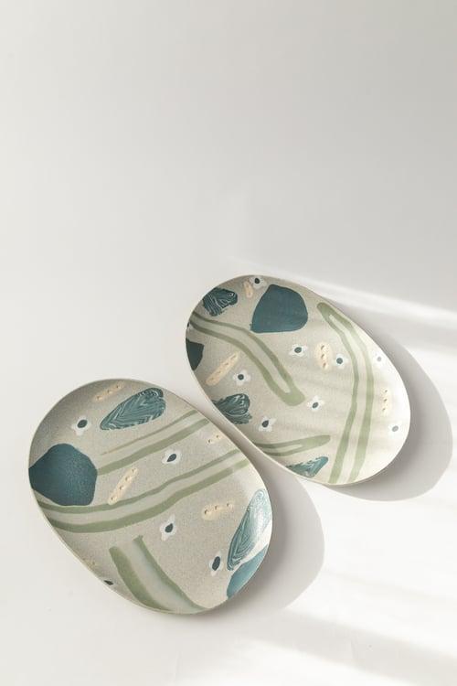 Image of Granite Gardens - Oval Porcelain Inlay Serving Platter