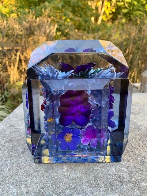 Image of Petite Painted Underwater Pansies Box