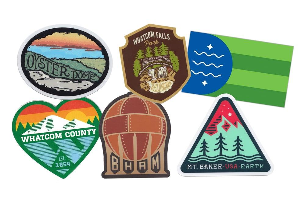 Image of Northwest Washington Sticker 6-Pack