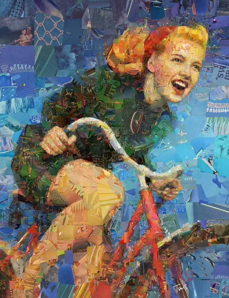 "Image of Endless Summer 3 ""Take the ride"" (Limited edition digital mosaic on canvas)"