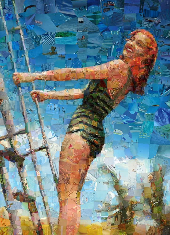 """Image of Endless Summer 3 """"I'll take you there"""" (Limited edition digital mosaic on canvas)"""
