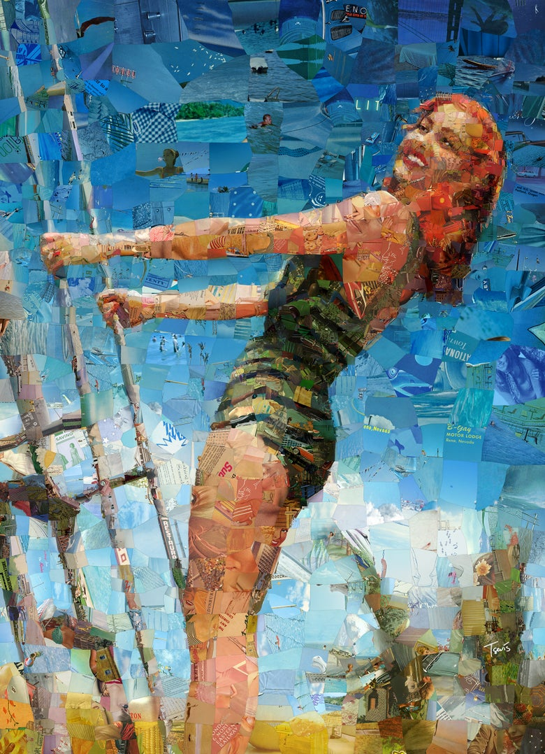 "Image of Endless Summer 3 ""I'll take you there"" (Limited edition digital mosaic on canvas)"