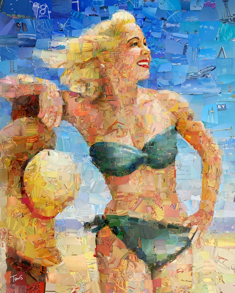"""Image of Endless Summer 3 """"Sandy"""" (Limited edition digital mosaic on canvas)"""