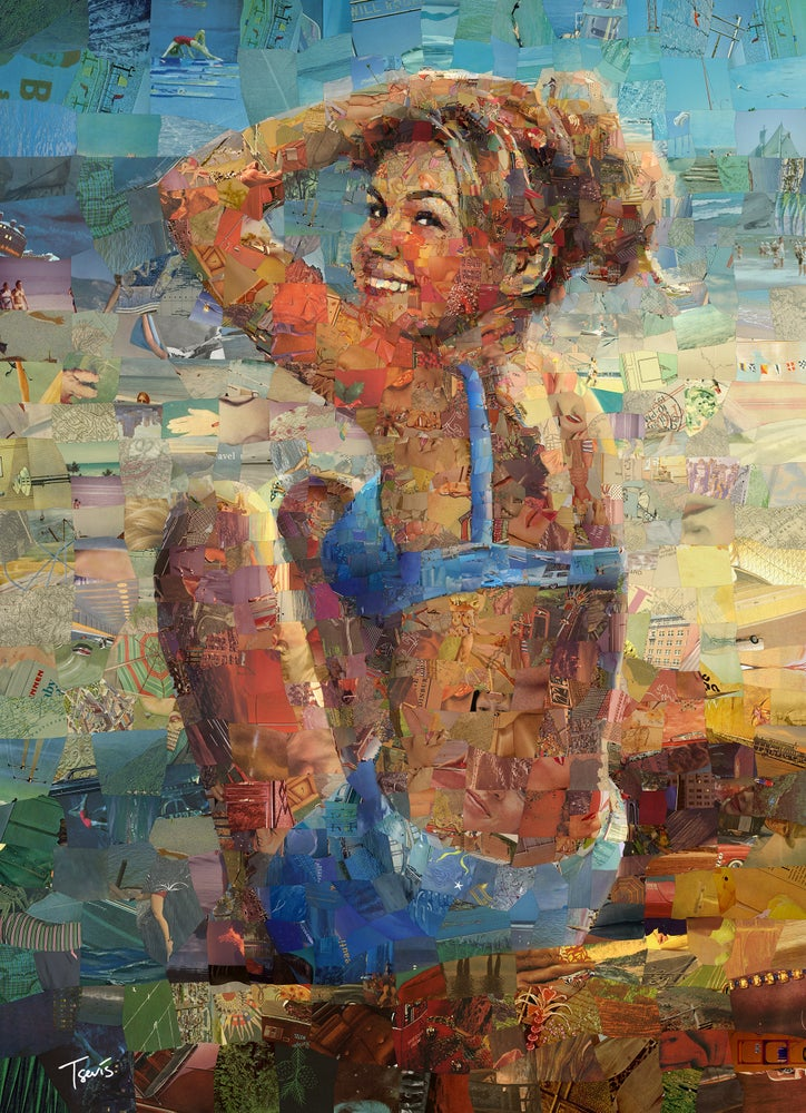 "Image of Endless Summer 3 ""Hey good looking'"" (Limited edition digital mosaic on canvas)"