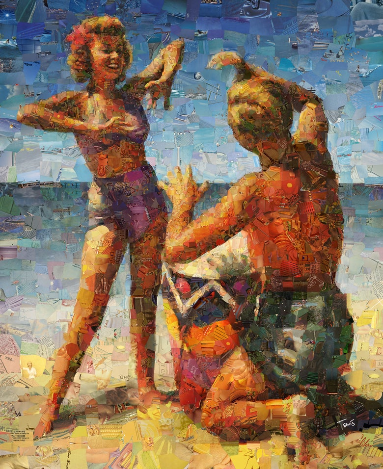 "Image of Endless Summer 3 ""Hot fun in the summertime"" (Limited edition digital mosaic on canvas)"