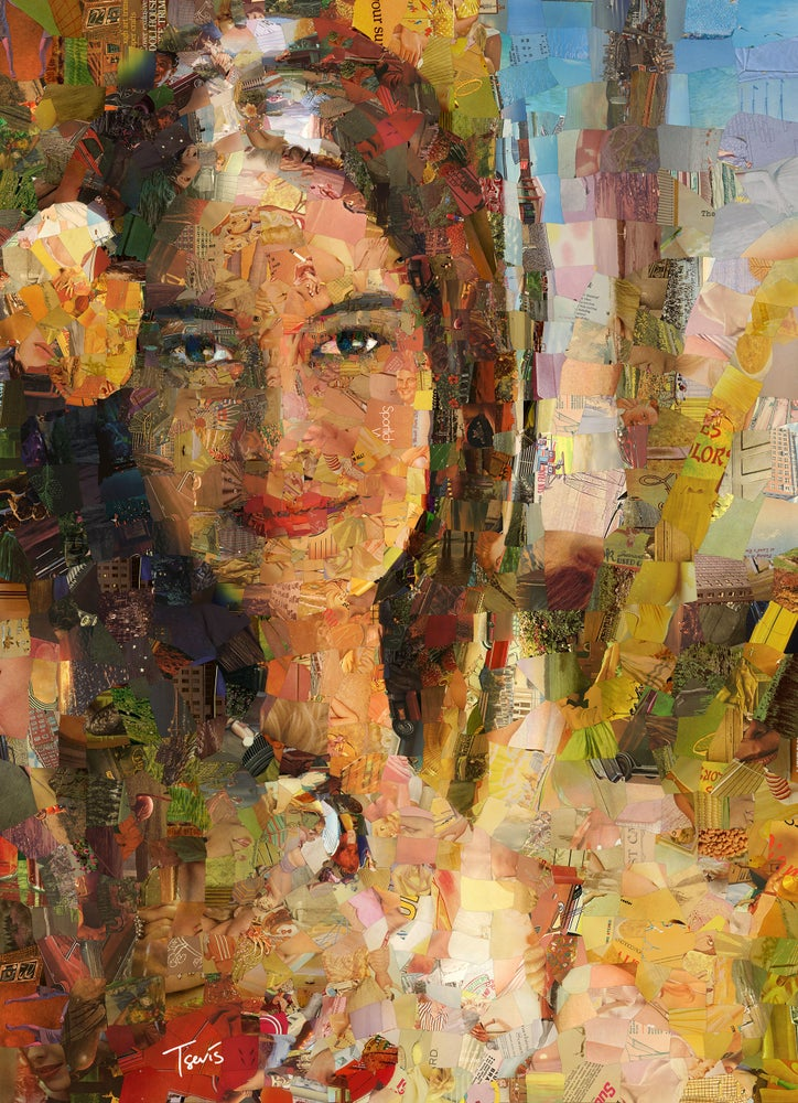 """Image of Endless Summer 3 """"I saw her again"""" (Limited edition digital mosaic on canvas)"""