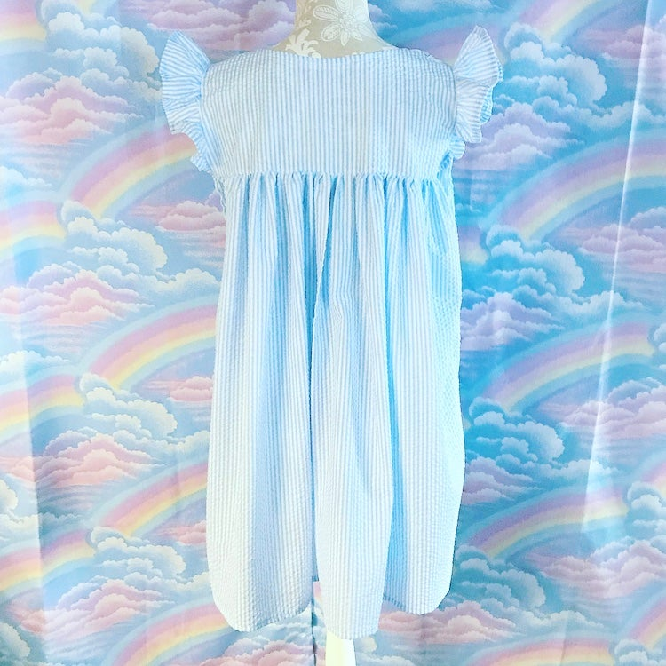 Gingham Dreamy Dress: Blue