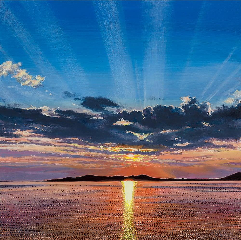 Image of Harris sunset giclee print