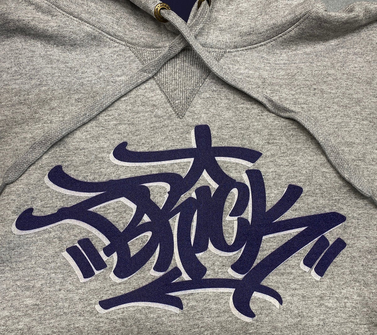 Image of Brick (Steel Gray/Navy) - Authentic Champion heavyweight hoodie