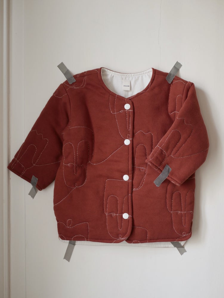 Image of Veste matelassée - rouille / Quilted jacket - rust