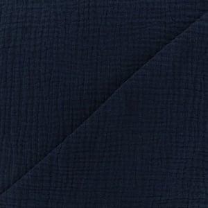 Image of Barrette, bloomer & petite jupe double gaze bleue marine