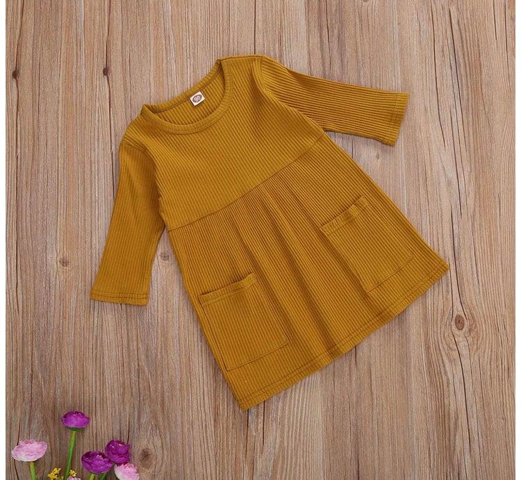 Image of Fall mustard dress
