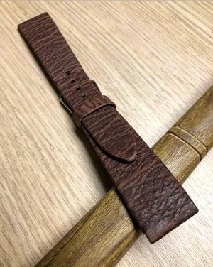 Image of Hand-rolled Brown Japanese Shark rembordé vintage strap