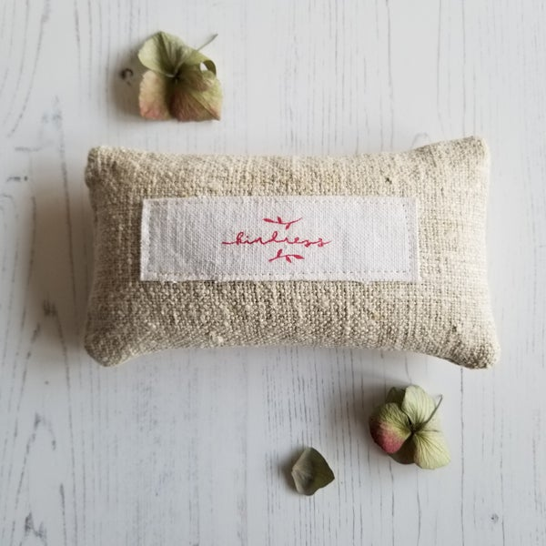 Image of 'Kindness' Lavender Grainsack Pillow