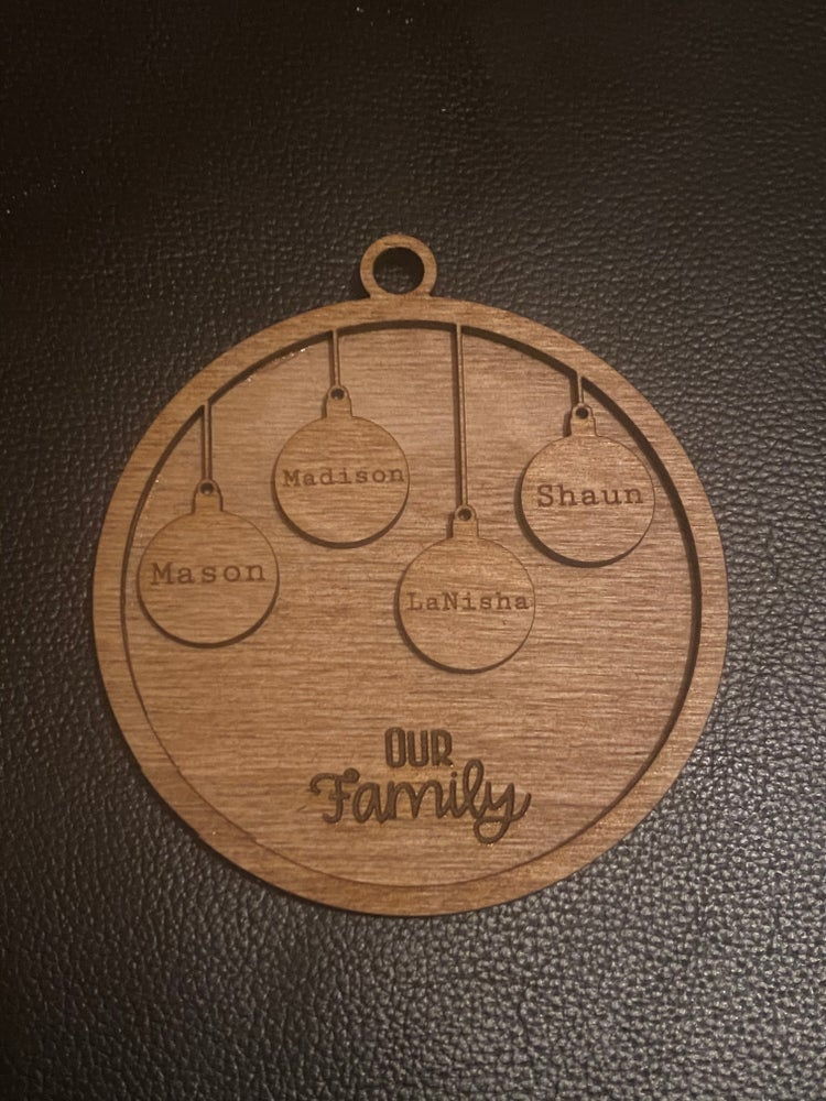 Image of Our Family Ornament - Personalized