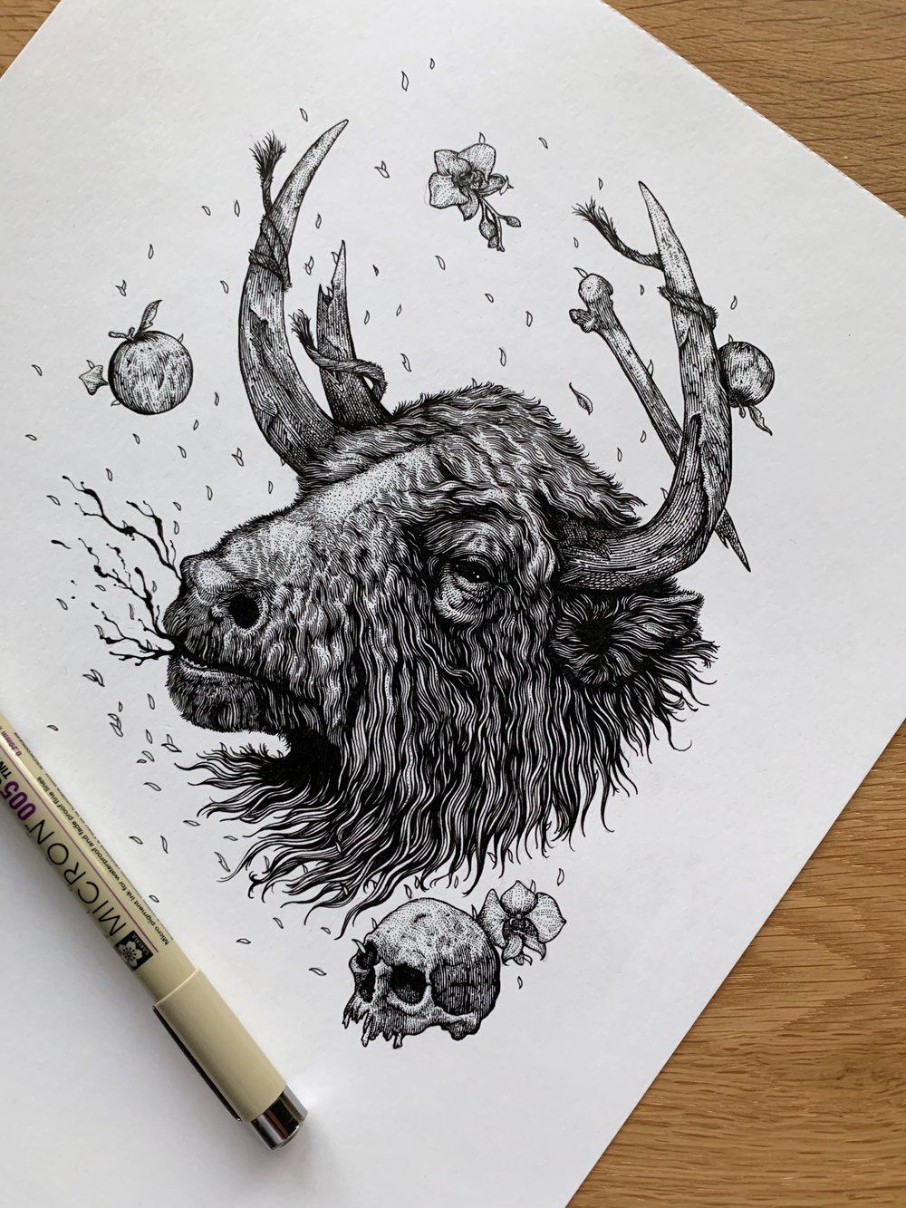 Image of Cretan Bull - Original Art