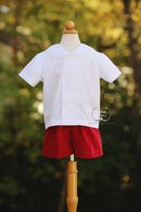 Image 1 of Breton Boy's Shirt & Short Set